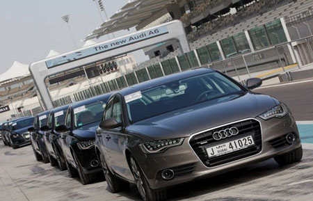 The New Audi A6 Launch at Yas Island